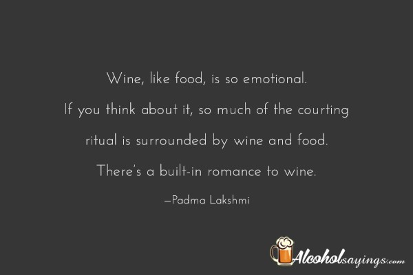 Wine Like Food Is So Emotional If You Think About It