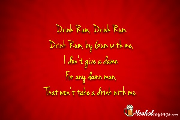Rum Quotes and Sayings - Alcohol Sayings, Liquor Quotes