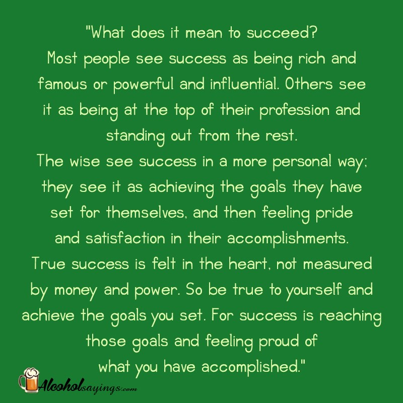 essay on what it means to be a successful person What success means to me essay  i want to be a successful person by accomplishing the goals i have set for myself in life by doing that it won't make me rich .